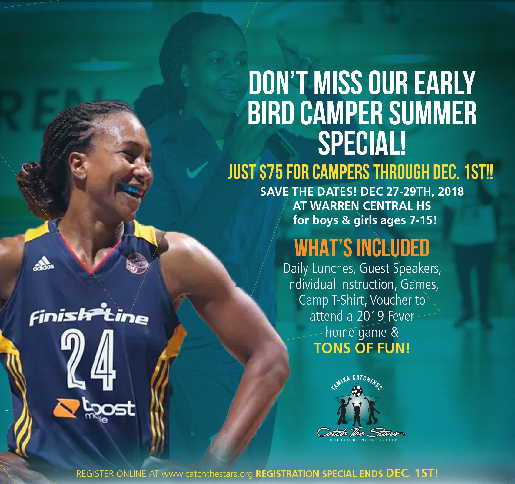 Tamika Catchings Holiday Basketball Camp